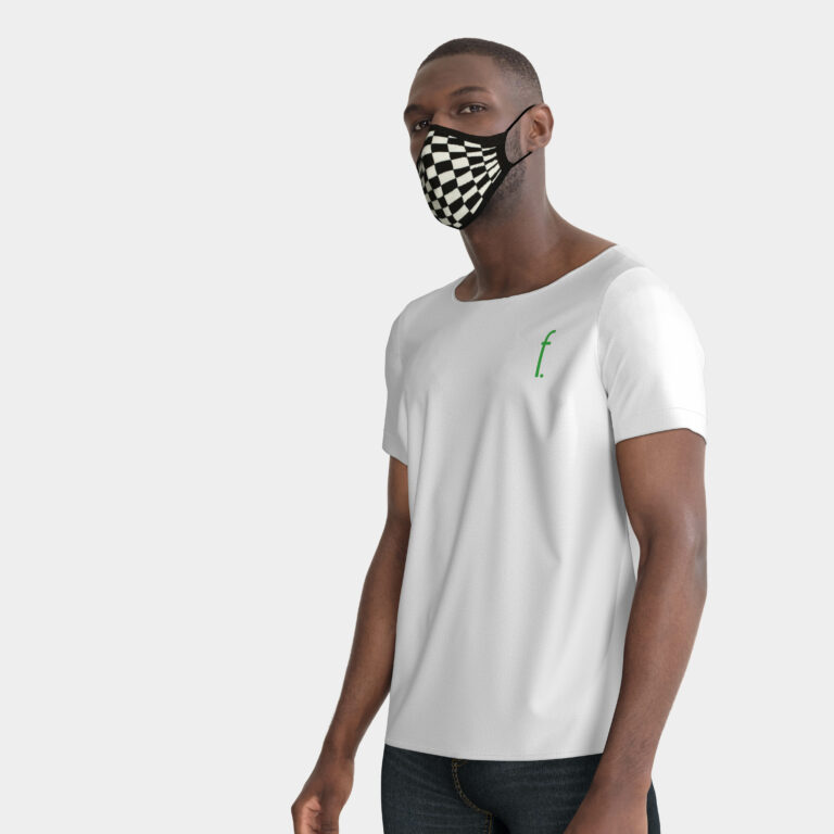 Jazz_3D_facial_mask_knitted_black_white_chess