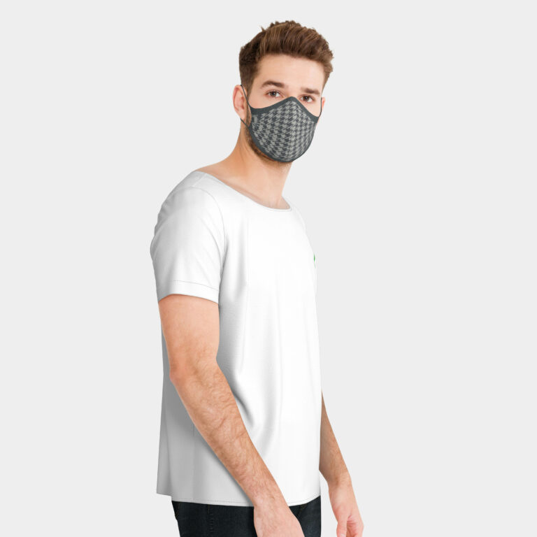 Nico_3D_facial_mask_knitted_grey_lightgrey_houndstooth